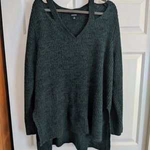 Torrid sweater with cutouts